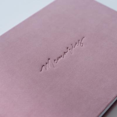 Фотокнига в рожевому велюрі з тисненням